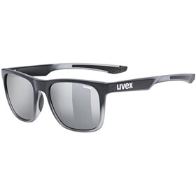 UVEX LGL 42 Glasses black transparent/mirror silver